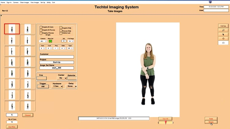 Live Model 360 Product Photography Software