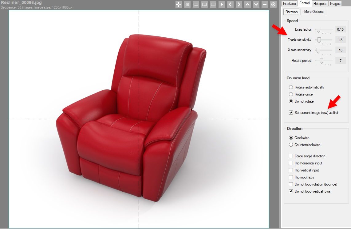 3D Product View Example - 2 Row Setup Extra