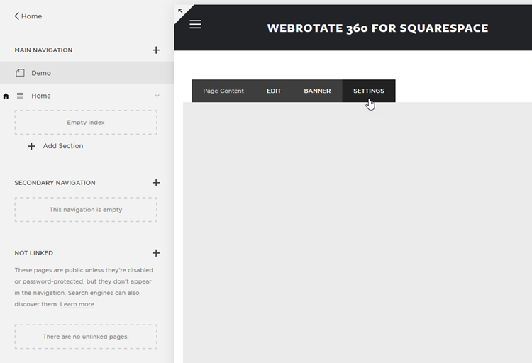 Squarespace 360 Product View Setup 1