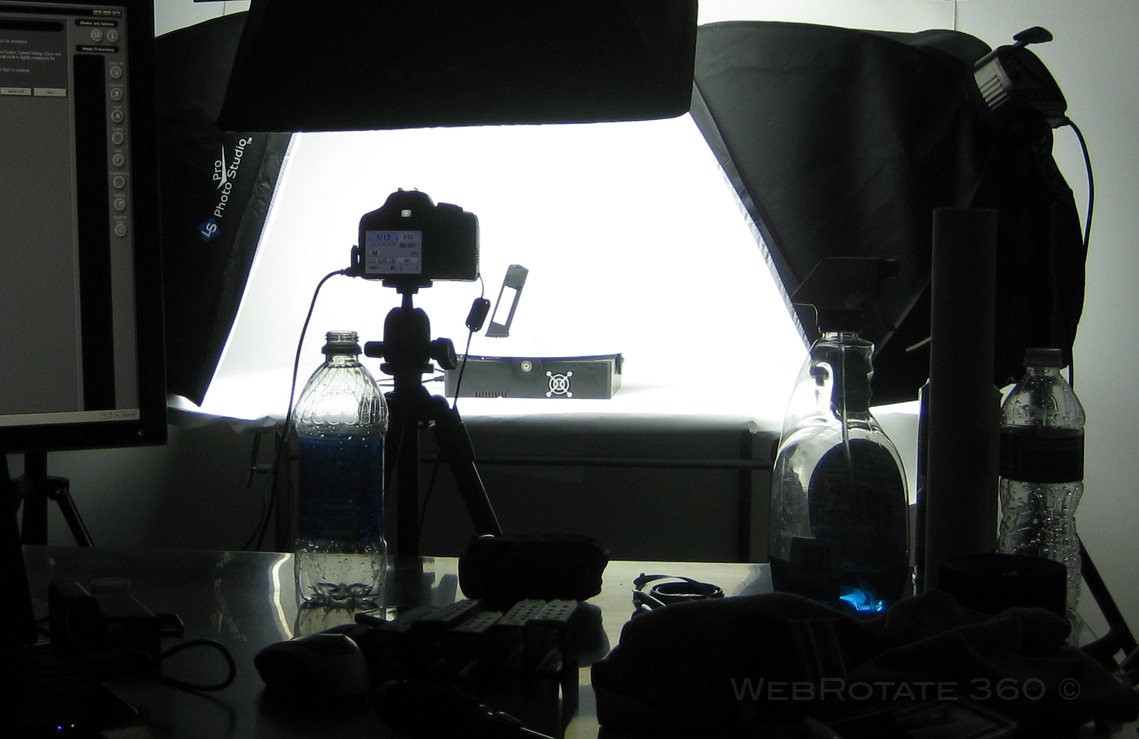 On location 2 - 360 product photo setup for Glock