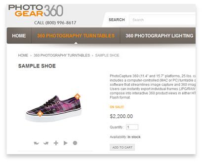 Prestashop sample 360 product view integration