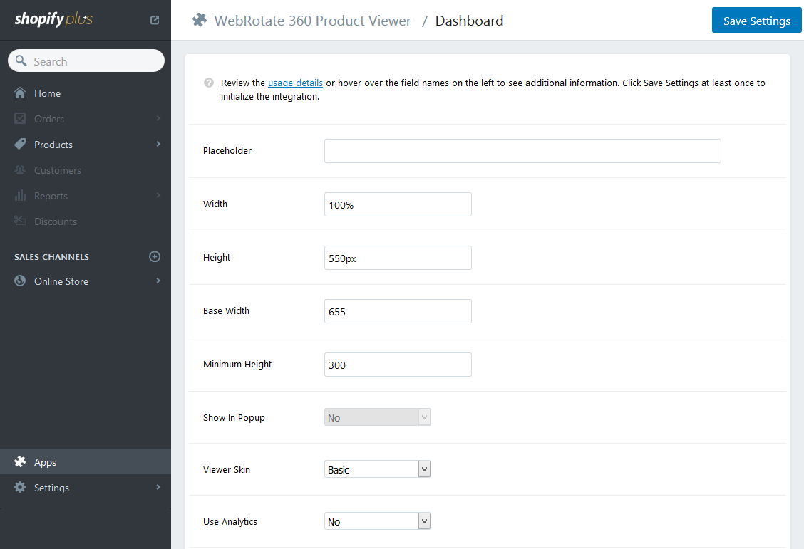 WebRotate 360 Product Viewer Plugin for Shopify